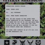 free paper shredding for veterans